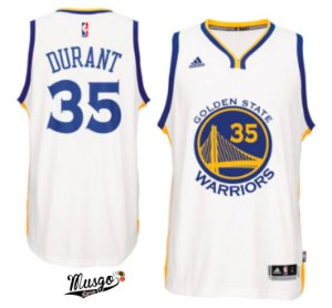 Camiseta Regata Basquete NBA Golden State Warriors Kevin Durant #35 Branca