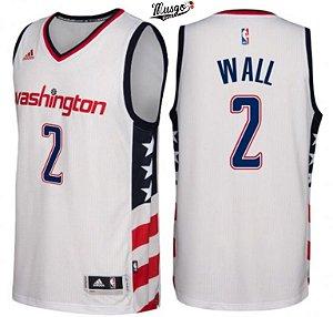 Camiseta Regata Basquete NBA Washington Wizards John Wall #2 Branca
