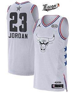 Camiseta Regata Basquete NBA All Star Game 2019 Chicago Bulls Michael Jordan #23 Branca