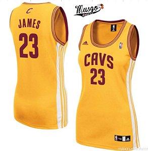 Camiseta Basquete Regata NBA Cleveland Cavaliers Lebron James #23 Feminina