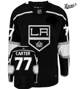 Camisa Esportiva Hockey  NHL Los Angeles Kings Jeff Cárter Numero 77 Preta
