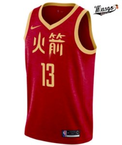 Camiseta Regata Basquete NBA Houston Rockets Ano Novo Chinês James Hardem #13