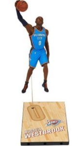 Boneco Miniatura Basquete NBA Oklahoma City Thunder Russel Westbrook