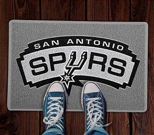 Tapete Esporte Capacho Basquete NBA San Antônio Spurs Cinza