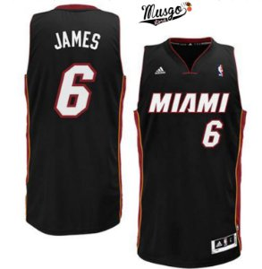 Camiseta Esportiva Regata Basquete NBA Miami Heat Lebron James Numero 6 Preta