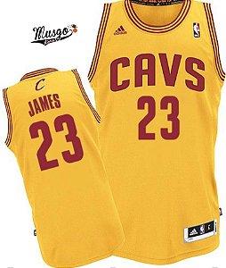 Camiseta Regata Esportiva Basquete NBA Cleveland Cavaliers Lebron James Numero 23 Amarela