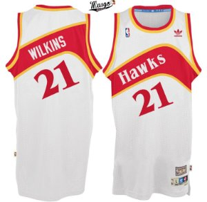 Camiseta Regata Basquete NBA Atlanta Hawks Dominique Wilkins #21 Branca