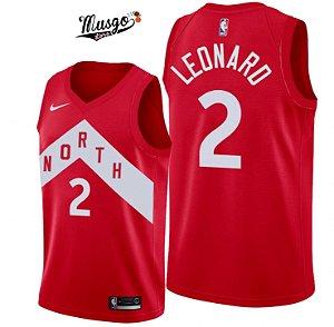 Camiseta Esportiva Regata Basquete NBA Toronto Raptors The North Kawhi Leonard Número 2 Vermelha