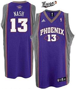 Camiseta Esportiva Regata Basquete NBA Phoenix Suns Steve NASH Número 13 Roxa