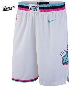 Bermuda Esportiva Basquete NBA Miami Heat Branco