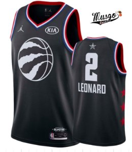 Camiseta Regata Esportiva Basquete NBA All star Game 2019 Toronto Raptors Kawhi Leonard Número 2 Preta