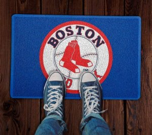 Tapete Capacho Esportivo Baseball MLB Boston Red Sox