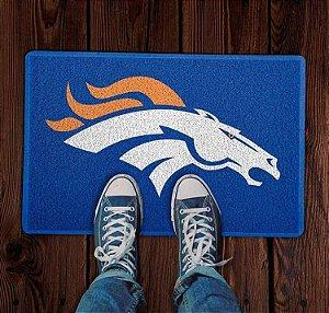 Tapete Capacho Esportivo Futebol Americano NFL Denver Broncos Azul