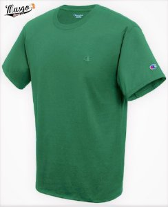 Camisa Casual Champion Mini Logo Verde Musgo