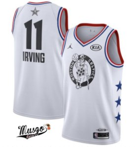 Camiseta Esportiva Basquete NBA All Star Game 2019 Boston Celtics Kirie Irving Nunero 11 Branca