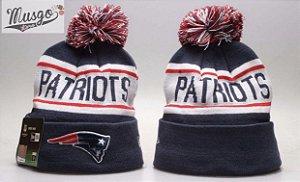 Gorro Esportivo Futebol Americano NFL New England Patriots Azul e Branco
