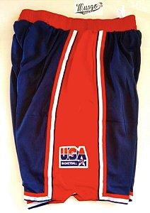 Short Esportivo Basquete Seleção Americana Barcelona 1992
