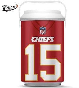 Cooler Esportivo Futebol Americano NFL Kansas City Chiefs Patrick Mahomes Vermelho