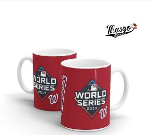Caneca Esportiva Baseball MLB Washington Nationals World Series Vermelha