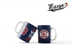 Caneca Esportiva Baseball MLB Boston Red Sox World Series Azul