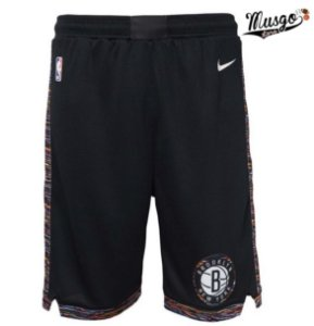 Bermuda Esportiva Basquete NBA Brooklyn Nets City Edition Preto