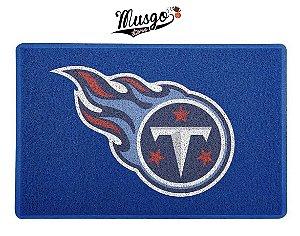 Tapete Capacho esportivo Futebol Americano NFL Tennessee Titans Azul