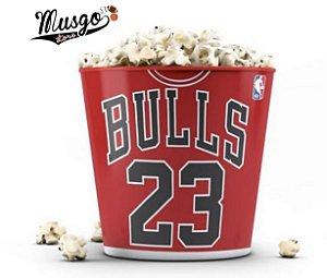 Balde de pipoca Basquete NBA Chicago Bulls Michael Jordan Número 23 Vermelho