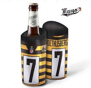 Porta Garrafa Futebol Americano NFL Pittsburgh Steelers Big Ben