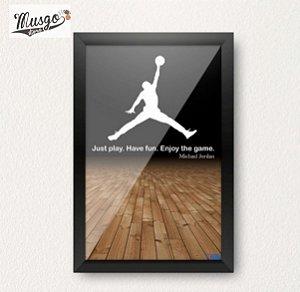 Quadro Baú Porta Rolhas Basquete Michael Jordan Logo JumpMan