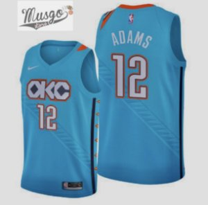 Camiseta Regata Esportiva Basquete NBA Oklahoma City Thunder Steve Adams Número 12 City Edition