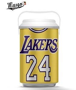 Cooler Esportivo Basquete Los Angeles Lakers Kobe Bryant Numero 24 Amarelo