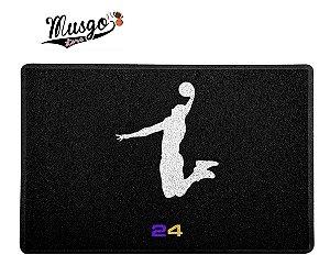 Tapete Esportivo Capacho Kobe Bryant Logo Dunk Preto