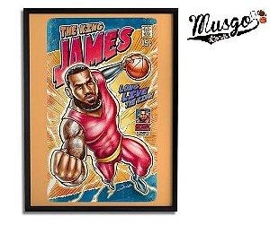 Quadro Esporte Basquete Lebron James Super Heroi