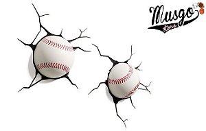 Luminária de Parede Esporte Baseball 3D