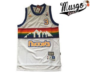 Camiseta Esporte Regata Basquete NBA Denver Nuggets Allen Iverson Numero 3 Branca