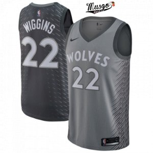 Camiseta Regata Esporte Basquete NBA Minnessota TimberWolves Andrew Wiggins Número 22 City Edition