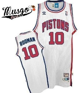 Camiseta Regata Esporte Basquete NBA Detroit Pistons Dennis Rodman Número 10 Branca