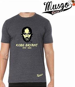 Camisa Musgo Store Esporte Basquete Los Angeles Kobe Bryant RIP Cinza Grafitte
