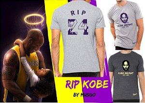[PRÉ-VENDA] Camisa Esporte Basquete NBA Los Angeles Lakers Kobe Bryant RIP Cinza Claro