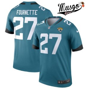 Camisa Esporte Futebol Americano NFL JacksonVille Jaguars Leonard Fournette Número 27 Verde