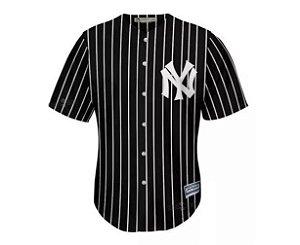 Camisa Esportiva Baseball MLB New York Yankees Preta Listrada
