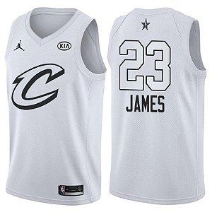 Camiseta Regata Basquete NBA Cleveland Cavaliers All Star Game 2018 Lebron James Número 23 Branca