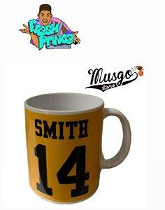 Caneca Esporte Série Um Maluco no Pedaço Bel Air Academy Will Smith Número 14 Amarela