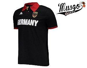 Camisa Casual Polo Rugby Seleção Alemanha Preta