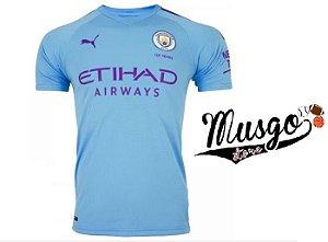 Camisa Esporte Futebol Premier League Manchester City 2020 Azul