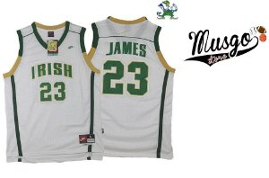 Camiseta Regata Basquete Colegial St.Vicent St. Mary Irish Lebron james Número 23 Branca