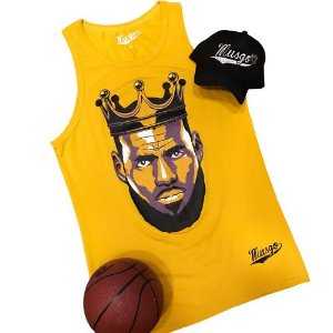 Camiseta Regata Esporte Basquete Lebron James The King Amarela