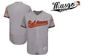 Camisa Esporte Baseball MLB Baltimore Orioles Cinza