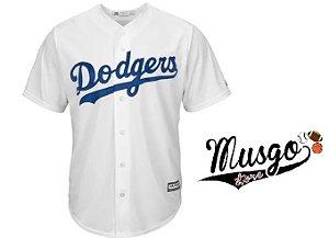Camisa Esporte Baseball MLB Los Angeles Dodgers Branca