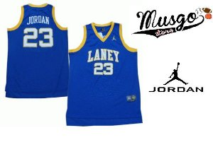 Camiseta Regata Basquete Colegial Laney High School Michael Jordan Número 23 Azul